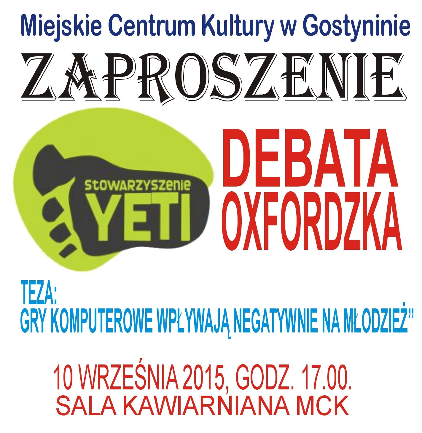 DEBATA OXFORDZKA
