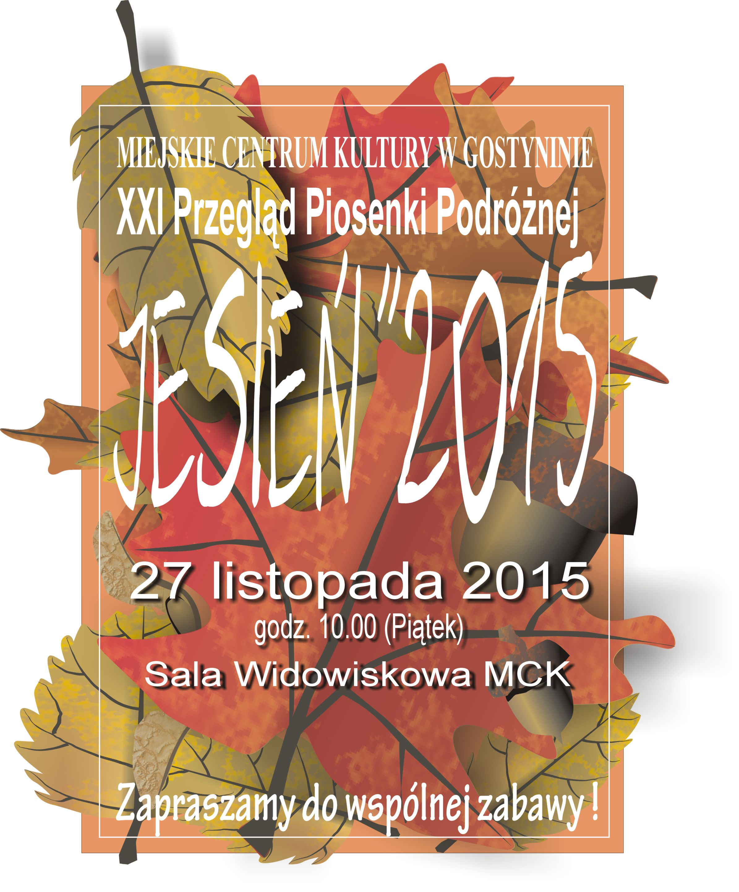 """KONKURS PLASTYCZNY """"JESIEŃ 2015"""" – ZAPRASZAMY"""