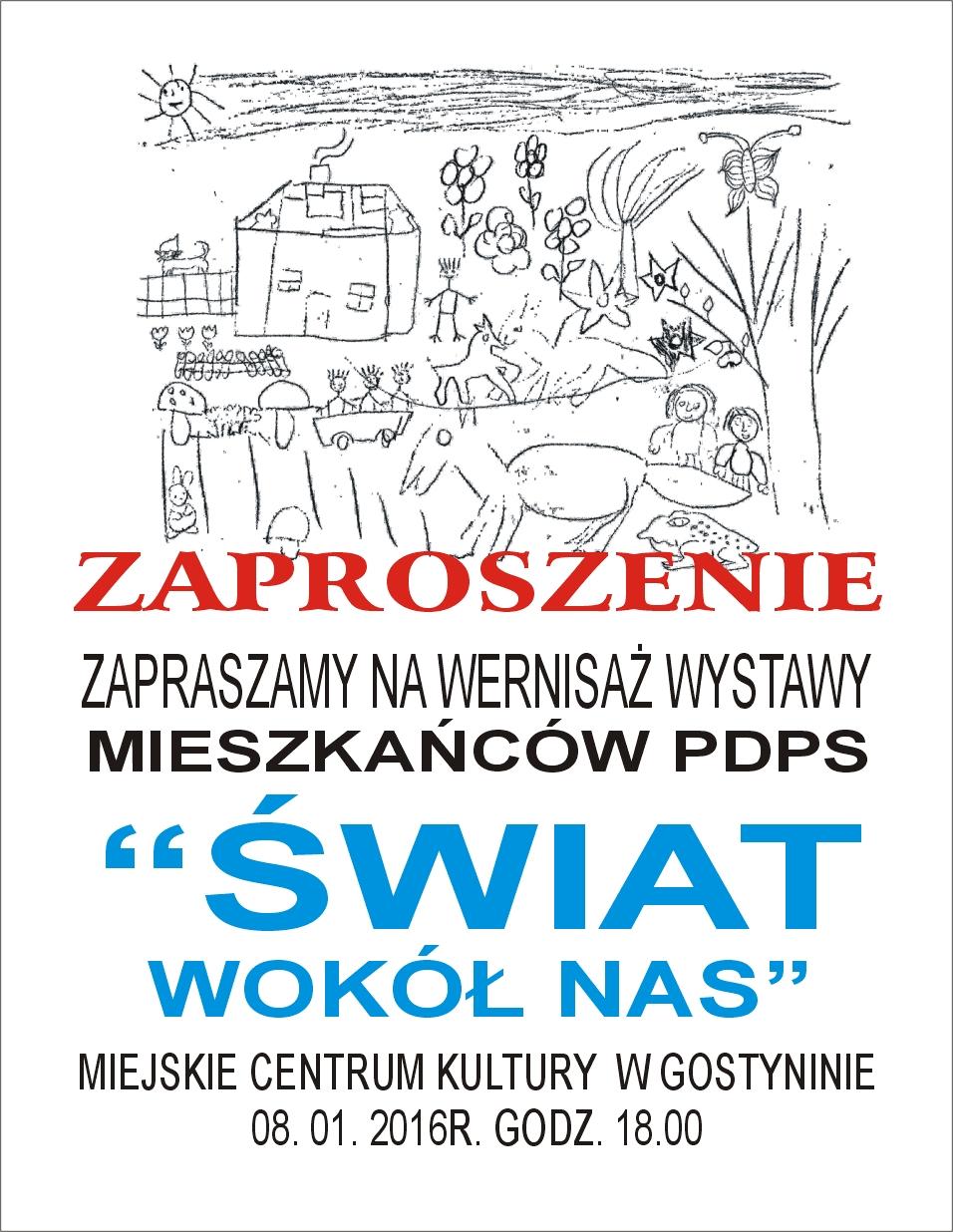 Zaproszenie na wernisaż wystawy