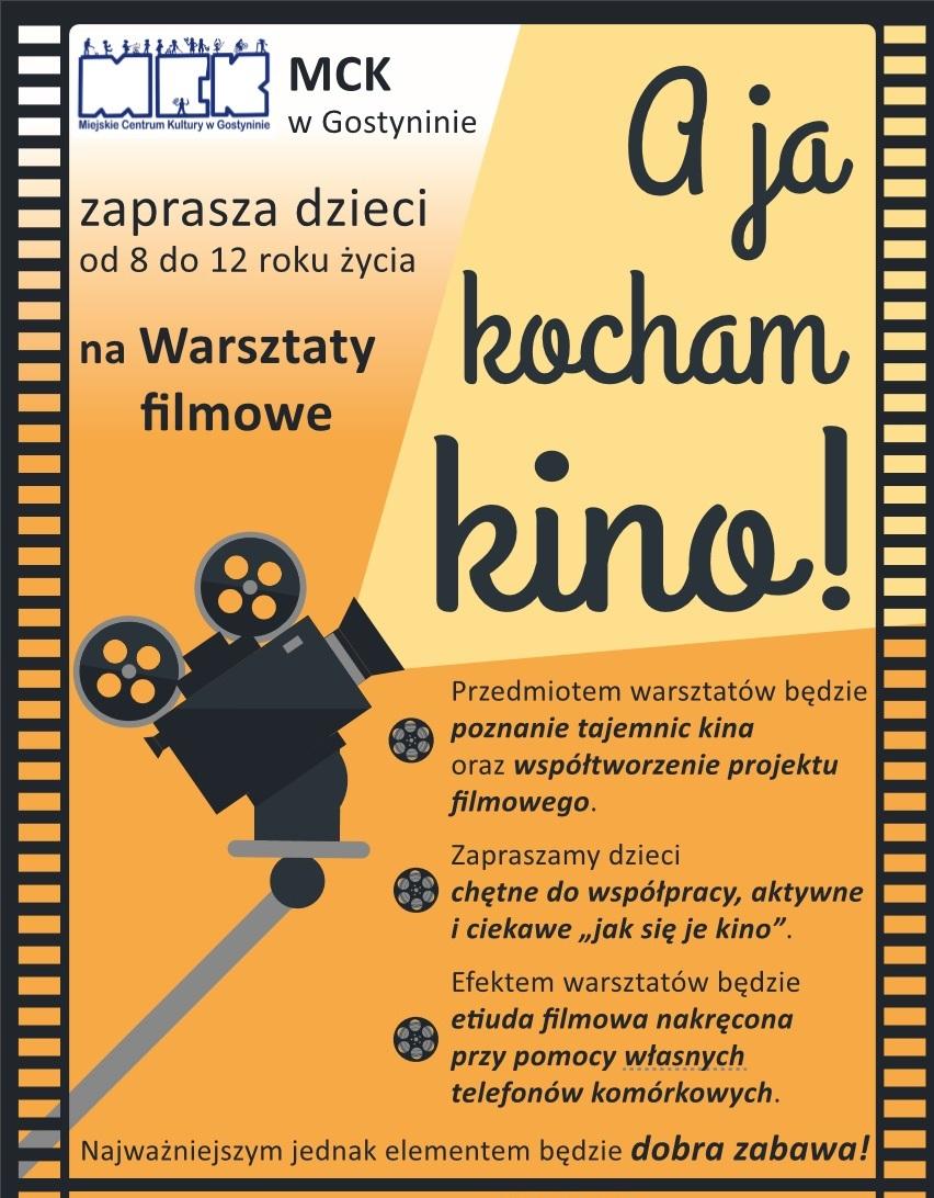 """WARSZTATY FILMOWE """"A JA KOCHAM KINO"""" – ZAPRASZAMY"""