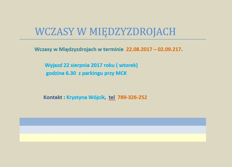 WCZASY W MIĘDZYZDROJACH