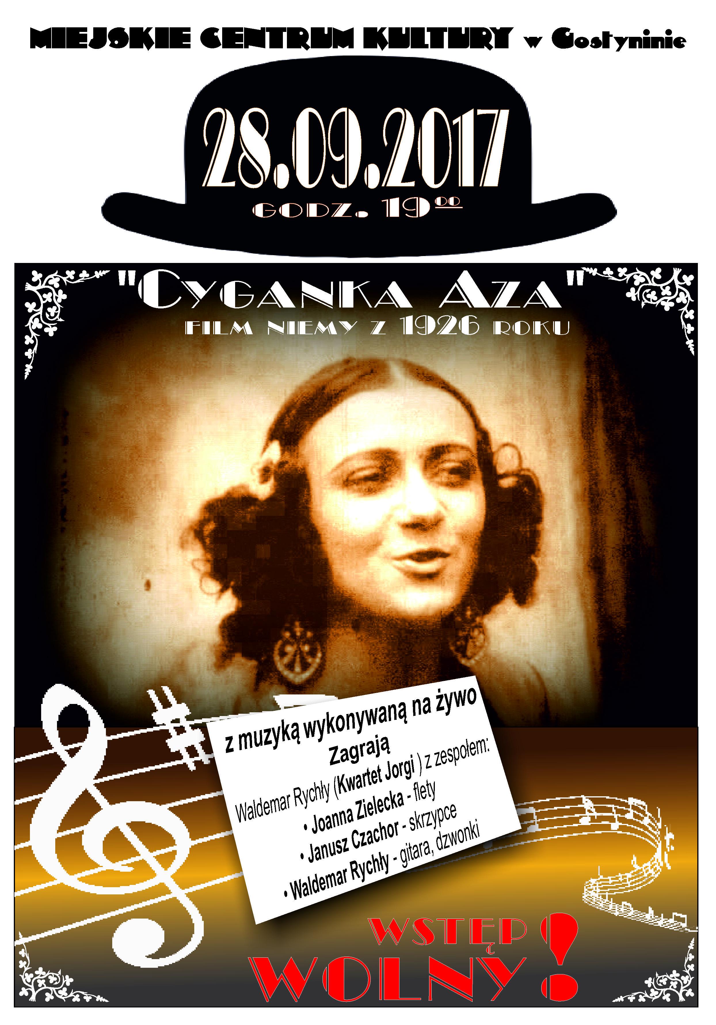 """Zapraszamy na wyjątkowe wydarzenie – niemy film """"Cyganka Aza"""" z muzyką na żywo!"""