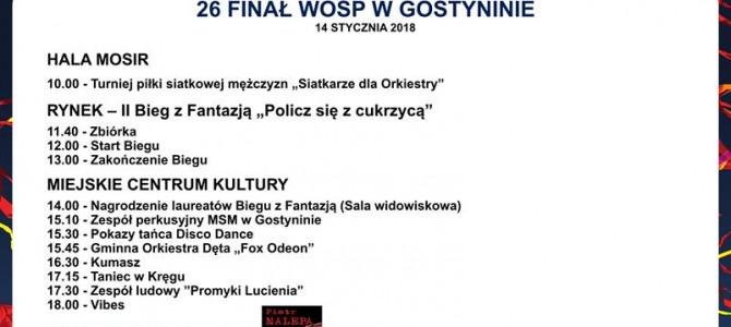 26 Finał Wielkiej Orkiestry Świątecznej Pomocy w Gostyninie -PROGRAM