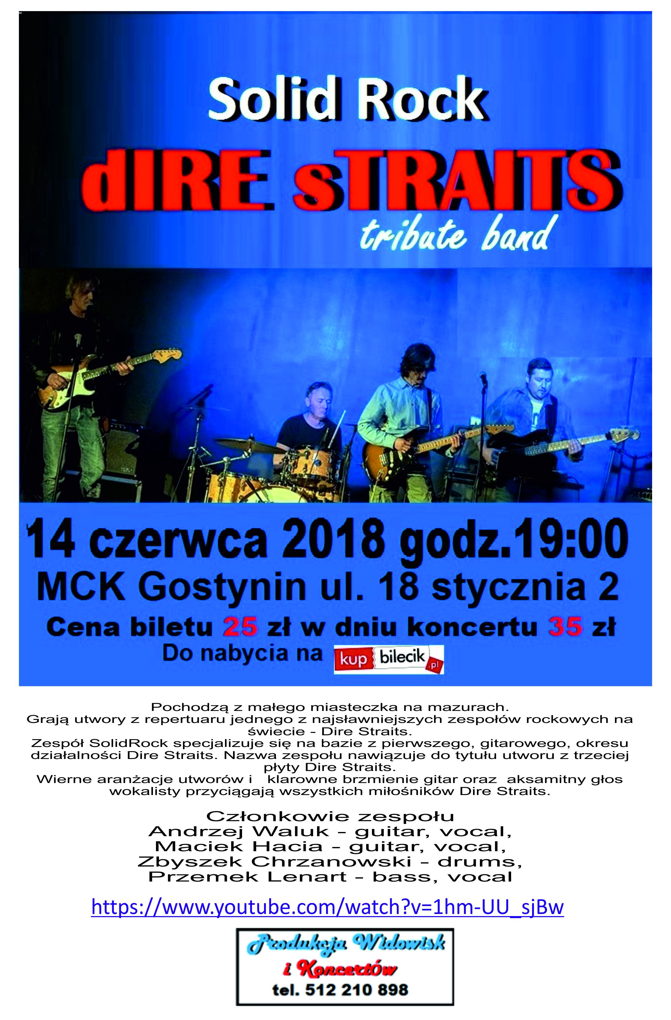 Zapraszamy na koncert Solid Rock – Dire Straits!