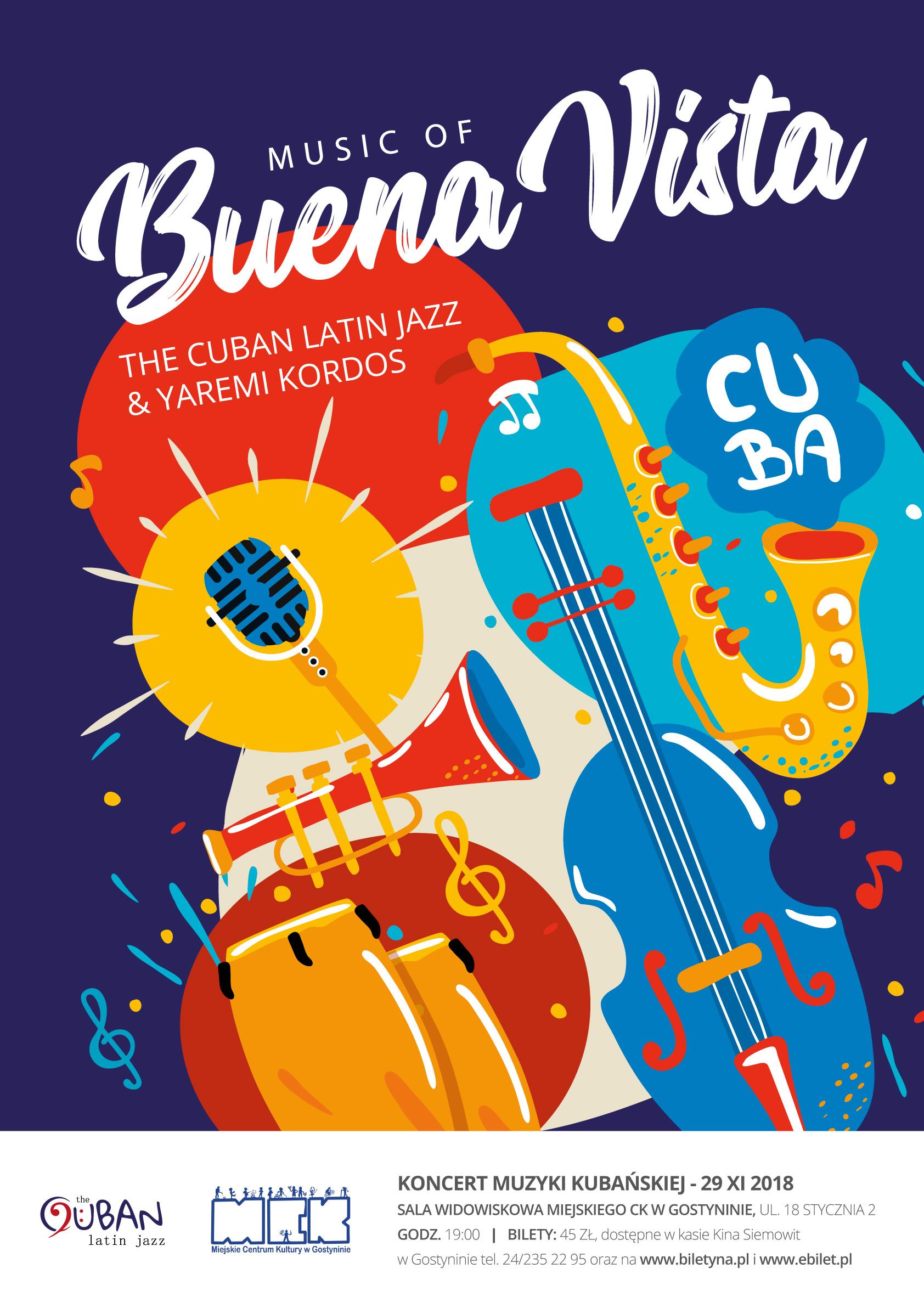 KONCERT MUZYKI KUBAŃSKIEJ music of Buena Vista