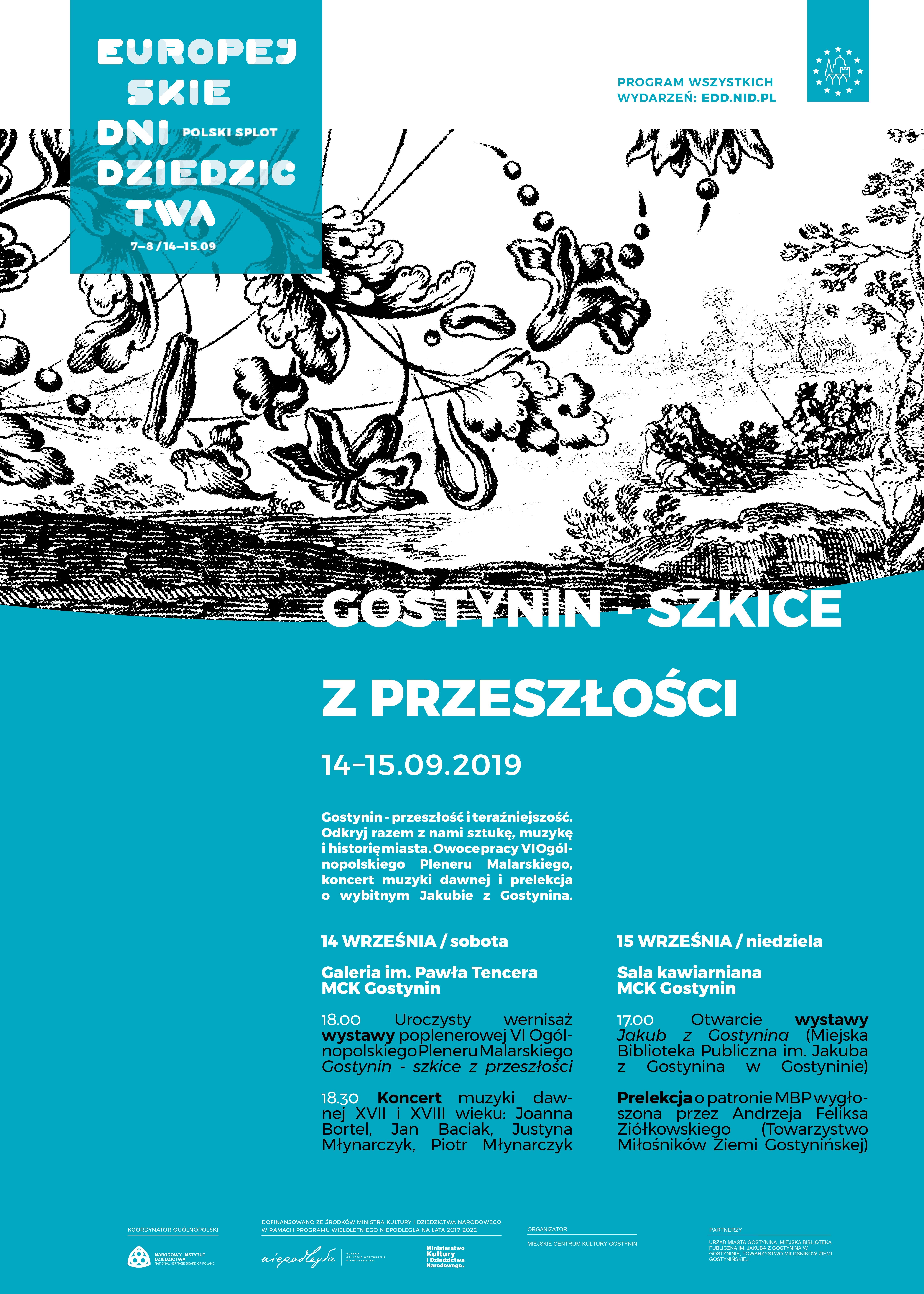 EUROPEJSKIE DNI DZIEDZICTWA 2019 – cz. II GOSTYNIN SZKICE Z PRZESZŁOŚCI