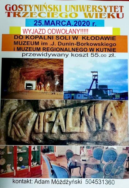 Kopalnia Soli w Kłodawie – ODWOŁANE
