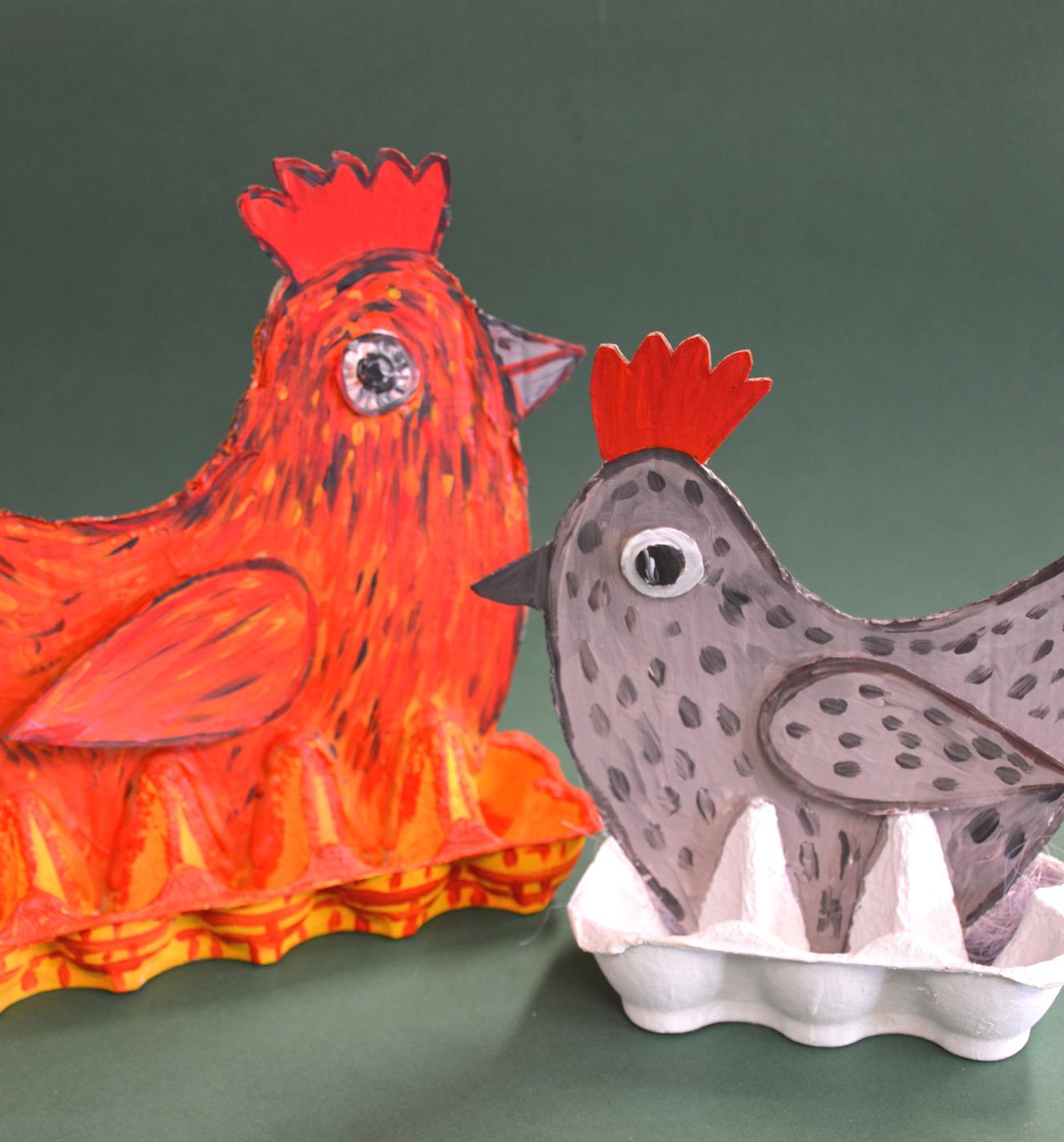 Kolorowe kurki – rękodzieło – zabawy plastyczne