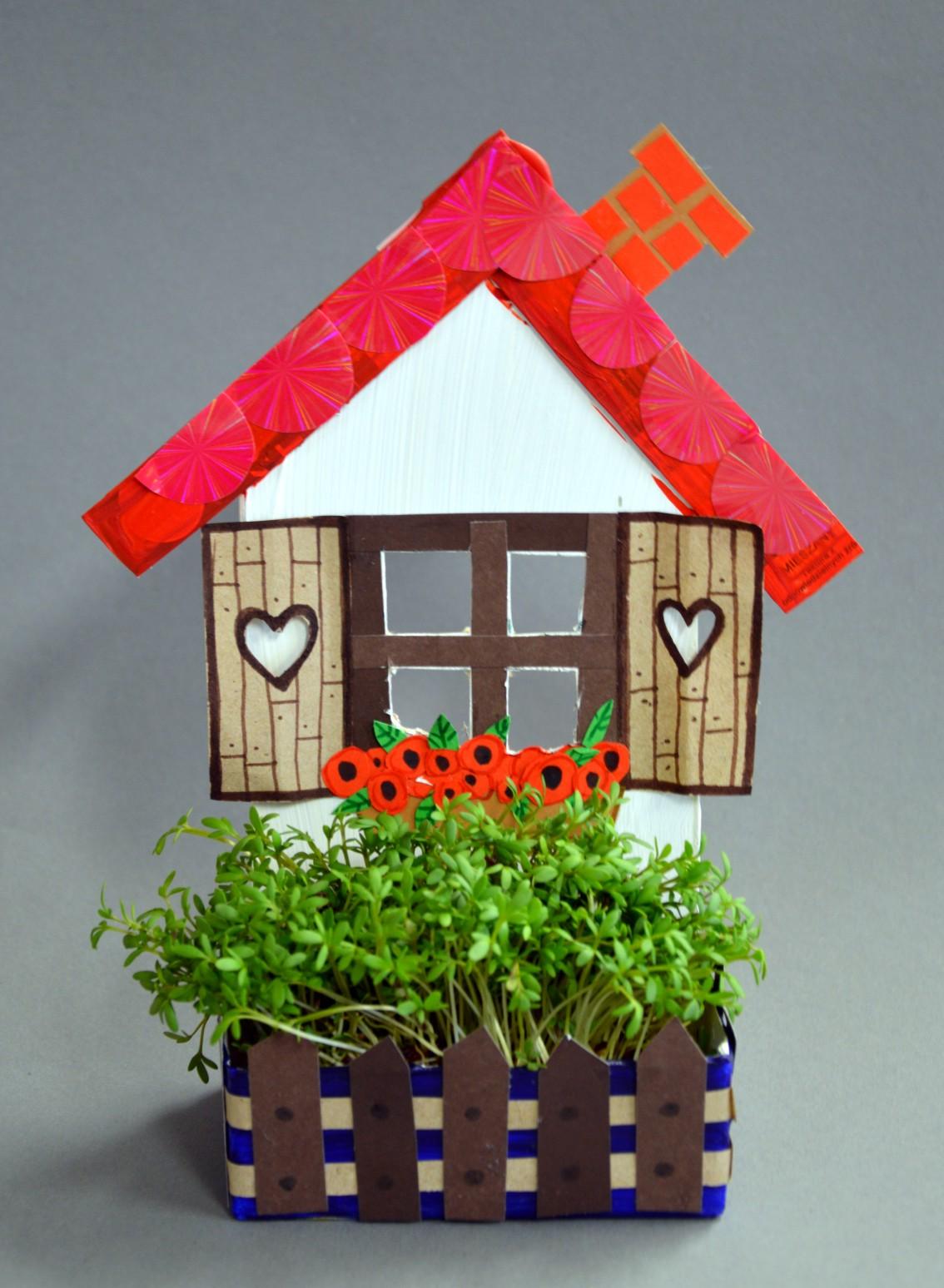 Domek z ogródkiem – rękodzieło – zabawy plastyczne