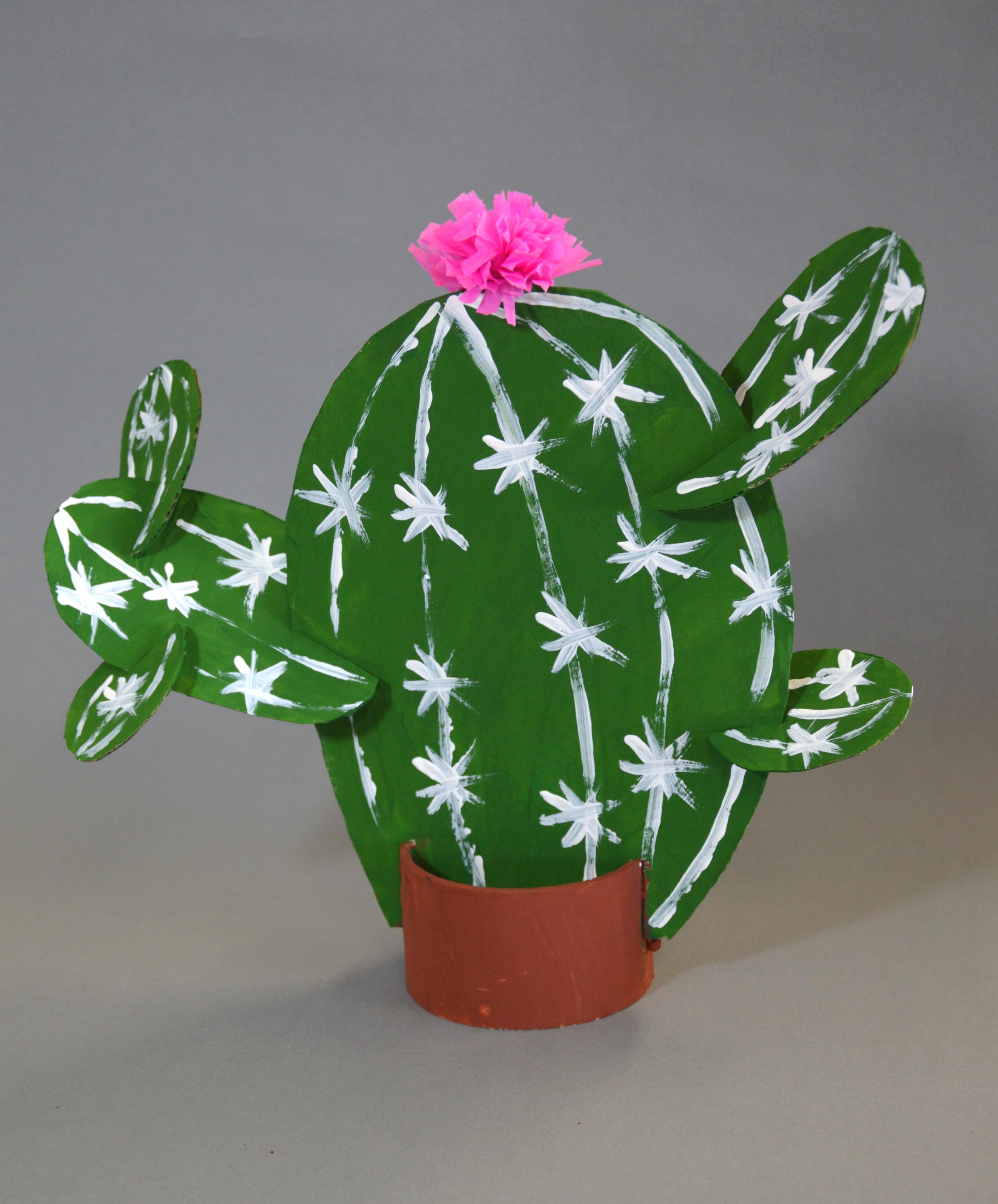 Kaktusy-rękodzieło-zabawy plastyczne