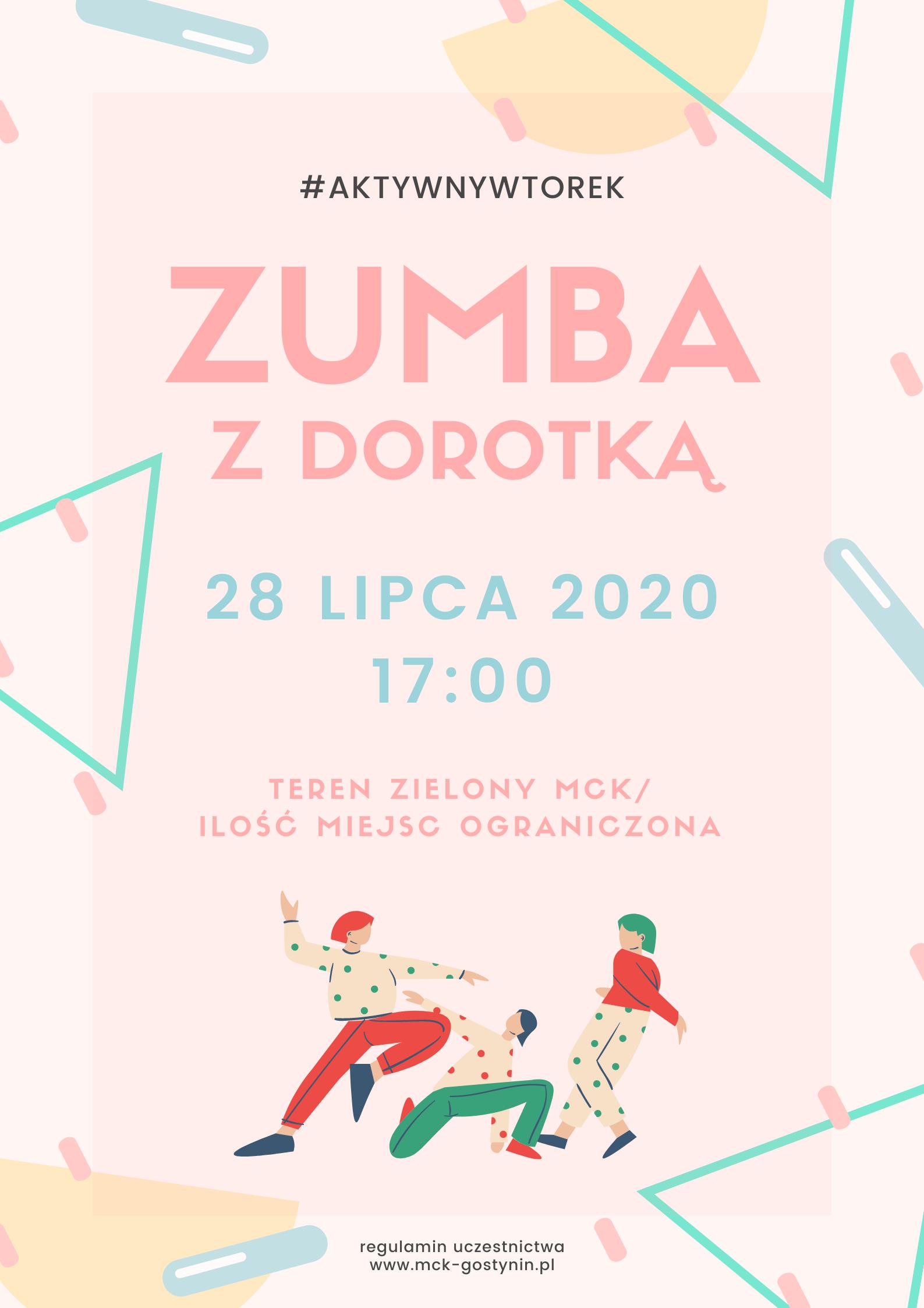 28/07 | Zumba z Dorotką – AKTYWNY WTOREK
