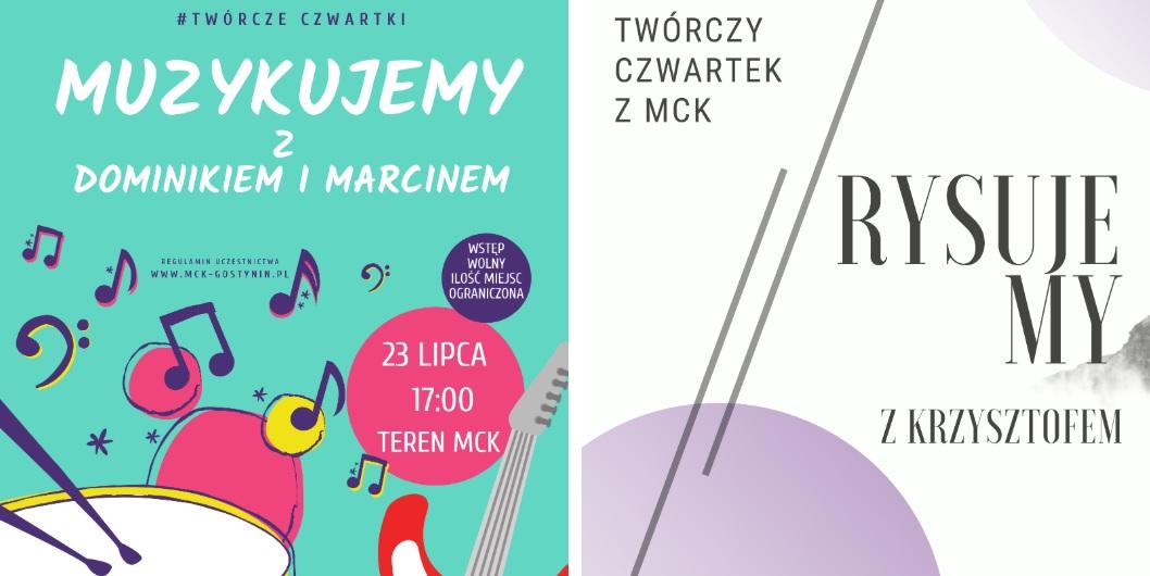 23/07 | Muzykujemy z Dominikiem i Marcinem + Rysujemy z Krzysztofem – TWÓRCZY CZWARTEK