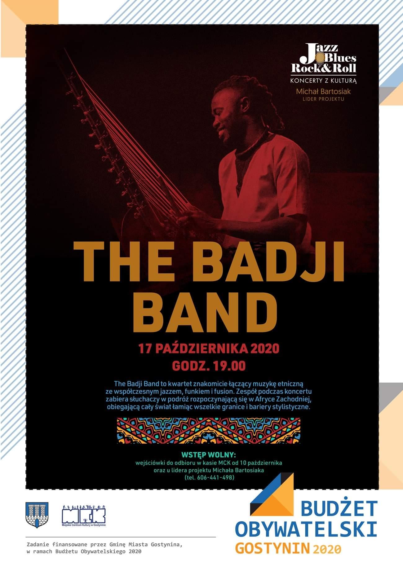 Koncert THE BADJI BAND – zapraszamy!