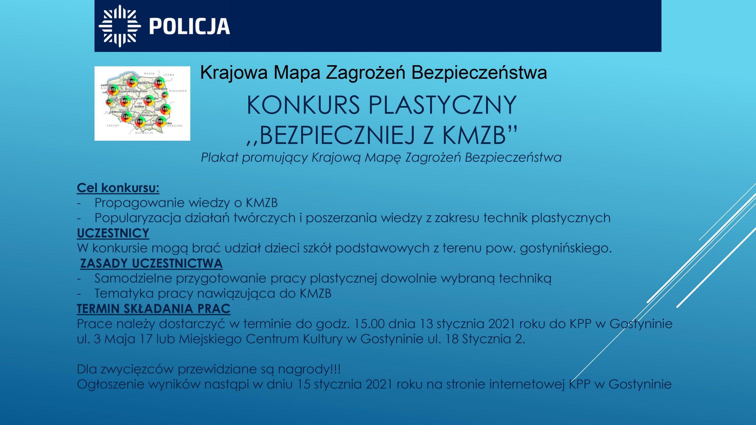 """Konkurs plastyczny """"BEZPIECZNIEJ Z KMZB"""""""