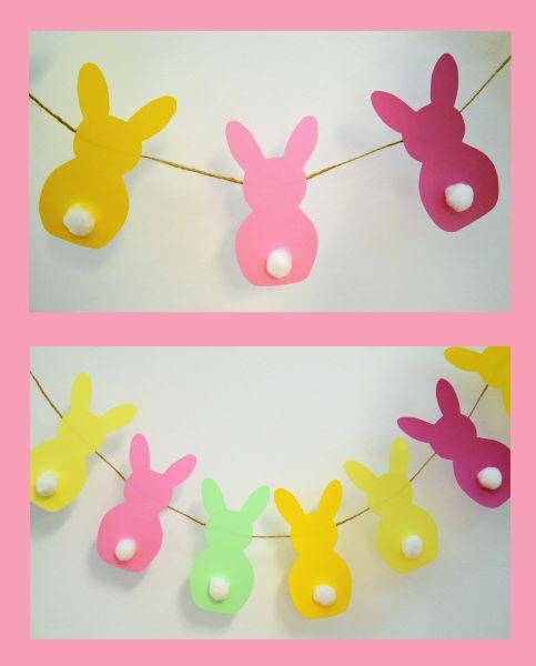 Nie taki on-lin straszny #plastykairekodzielo /pastelowa girlanda króliki