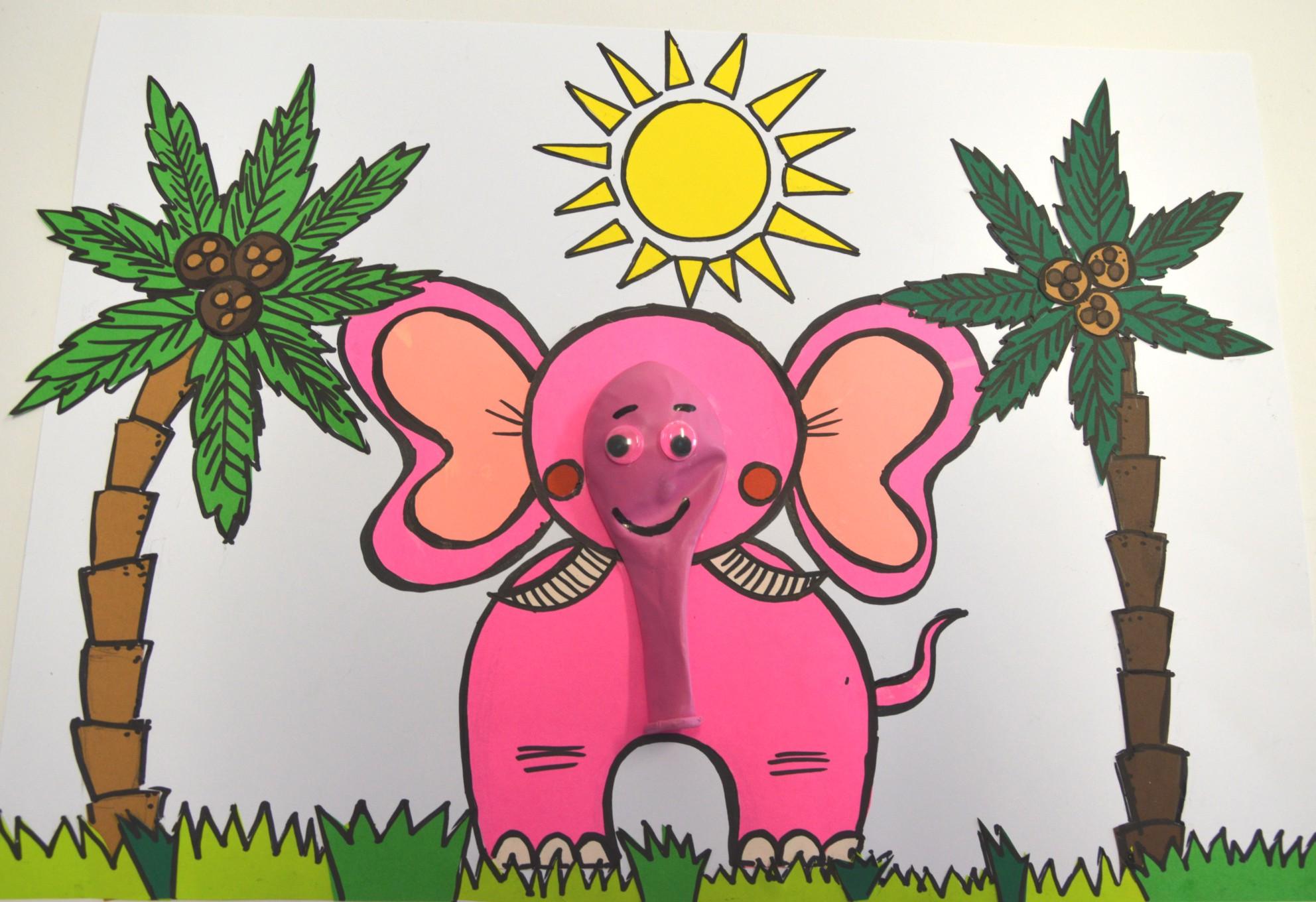 Nie taki on-line straszny #plastykairekodzielo /nadęty słoń