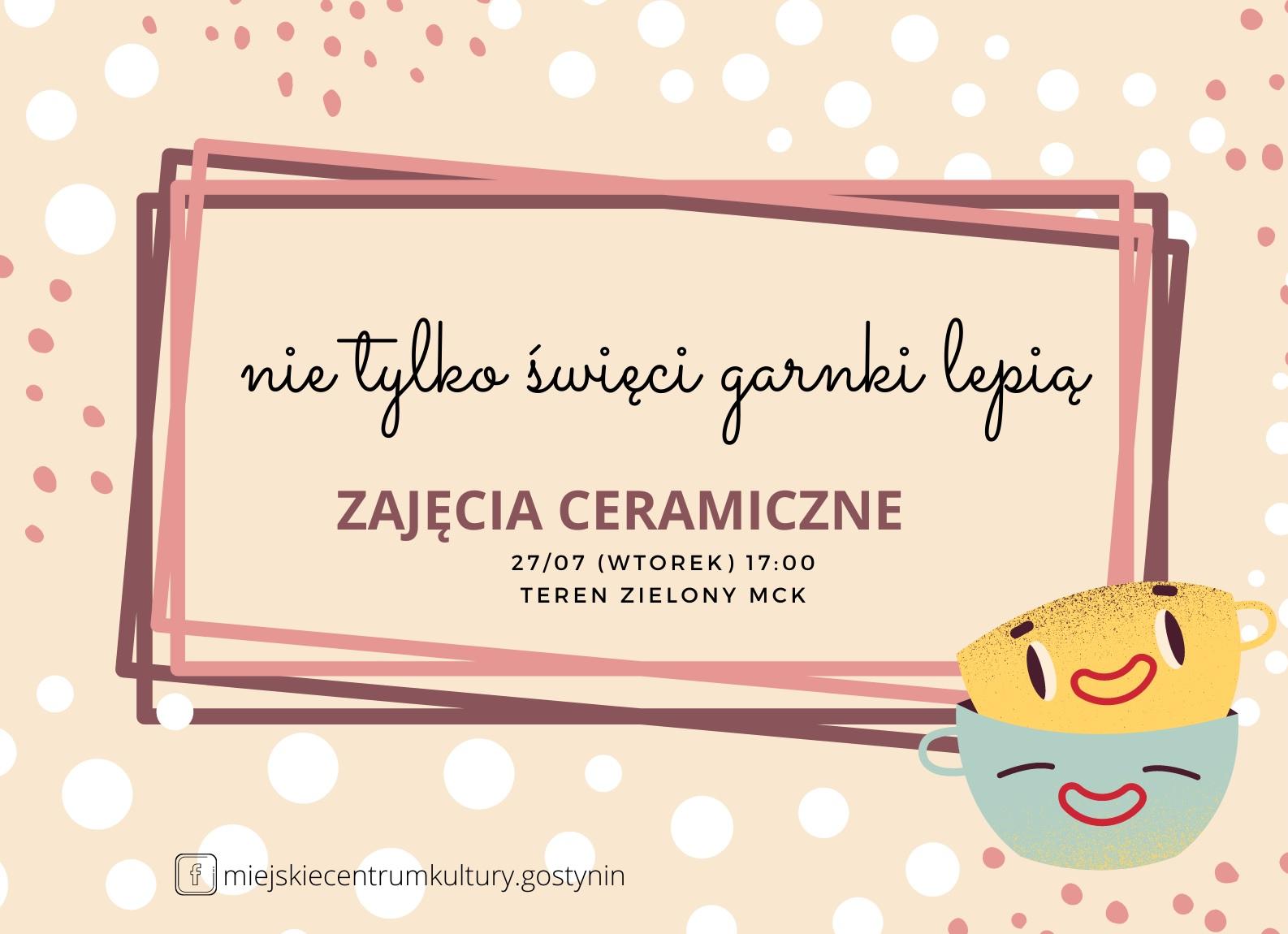 27/07 | Nie tylko Święci garnki lepią – Ceramika z Krzysztofem | #aktywnywtorek