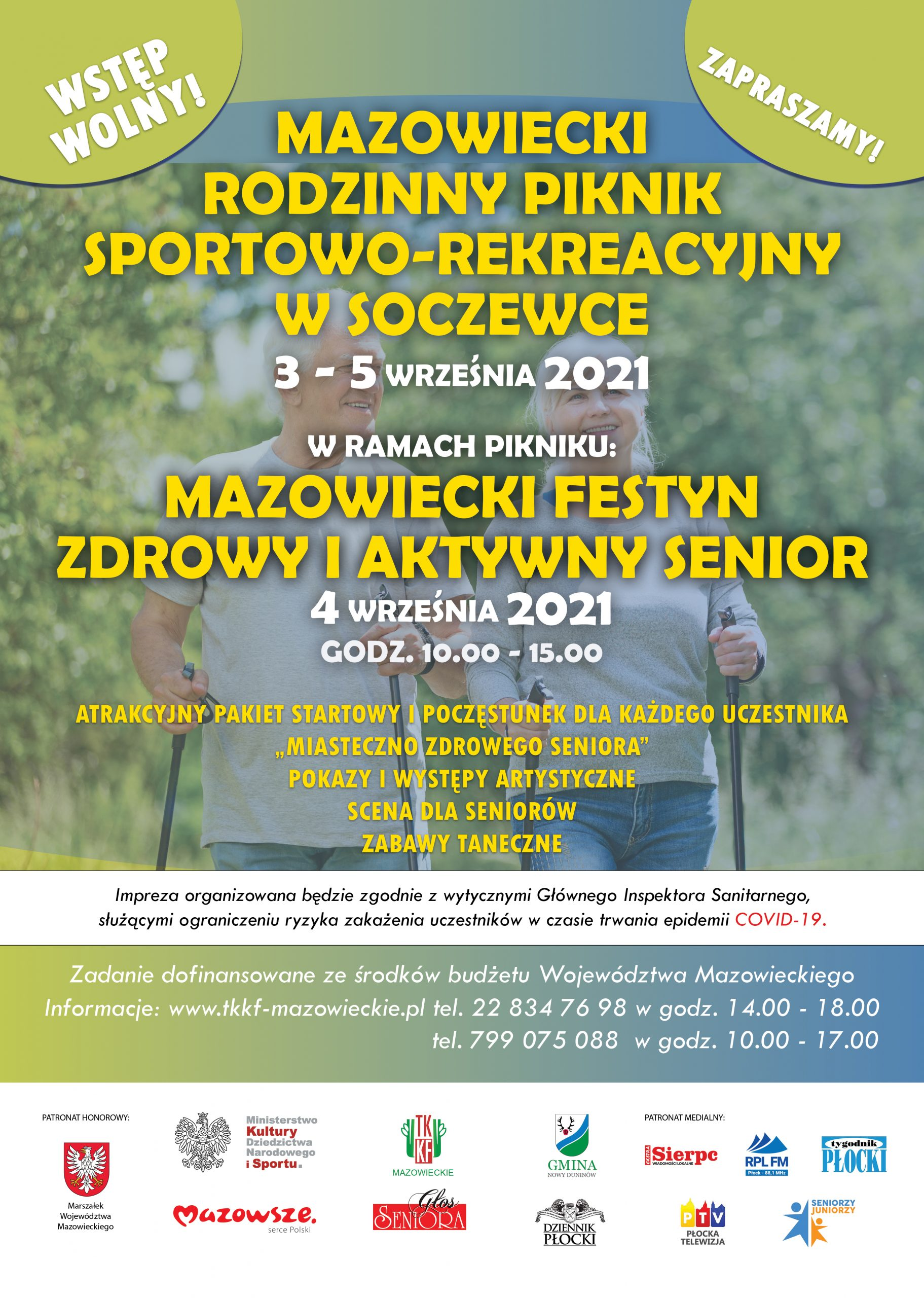 """MAZOWIECKI FESTYN """"ZDROWY i AKTYWNY SENIOR"""" SOCZEWKA  4 września 2021 r."""